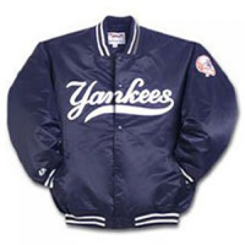 Youth Yankees Dugout Jacket Satin Quilted with Snap Buttons fc66861a59c