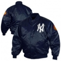 1952 Cooperstown Collection Satin Jacket with Mantle's Rookie Season Patch 50th Annv Patch