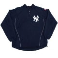 Adult Batting Practice Yankees Game Warmer Long Sleeve Batting Jacket by Majestic Athletic
