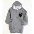 18 NY Gray Yankee Hooded Pullover Sweatshirt Sale $49.00 Reg $$59.00