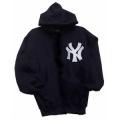 03 NY Navy Hooded Pullover Sweatshirt
