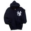 06 NY Navy Zipper Hooded Sweatshirt