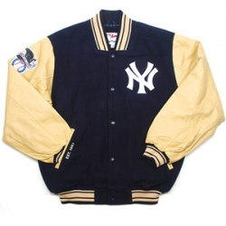 03 N.Y. Yankees Wool And Leather Old School Jacket 6e2869fea9d