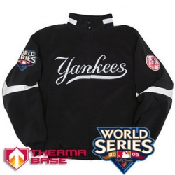 03 Youth Yankees 2009 World Series Thema Base Home Jacket*