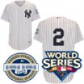 2009 World Series Yankees Authentic Home Jersey with both Patches