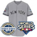 Yankees Authentic Road Jersey With Both Patches 2009 World Series and 2009 Inaugural Season