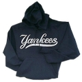 13 Yankees Gray Script Pullover Hooded Sweatshirt